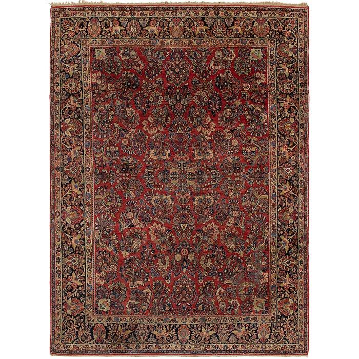9' x 12' 6 Sarough Persian Rug