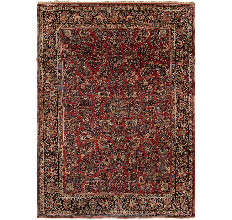 9' x 12' 6 Sarough Persian Rug