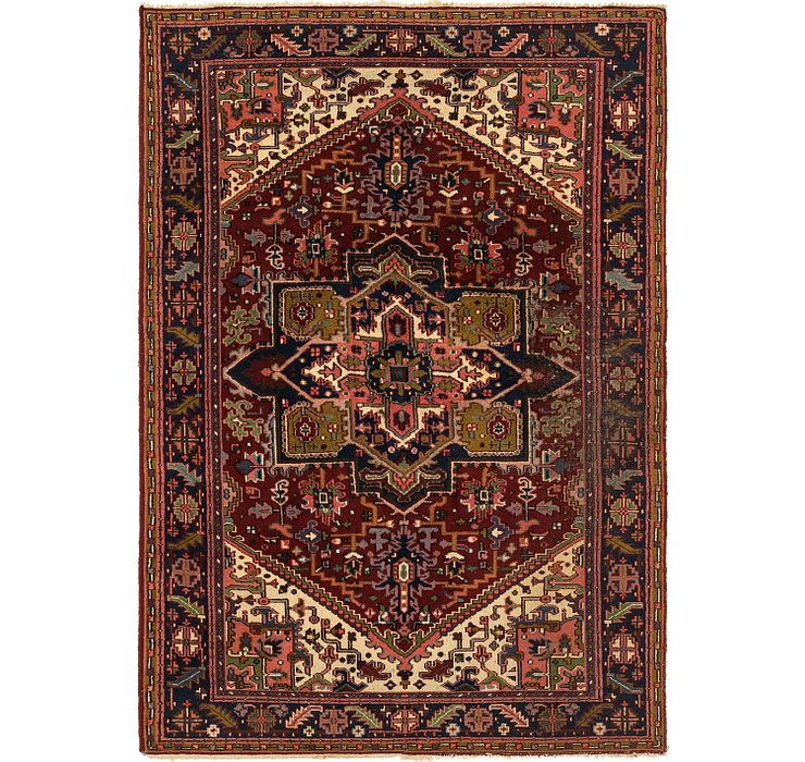 5' 8 x 8' 2 Heriz Persian Rug