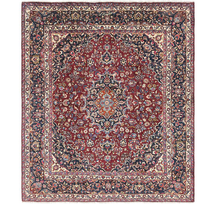 8' 5 x 9' 7 Mashad Persian Rug