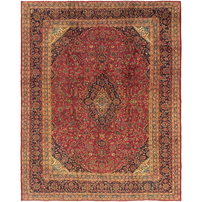 9' 9 x 12' 3 Kashan Persian Rug