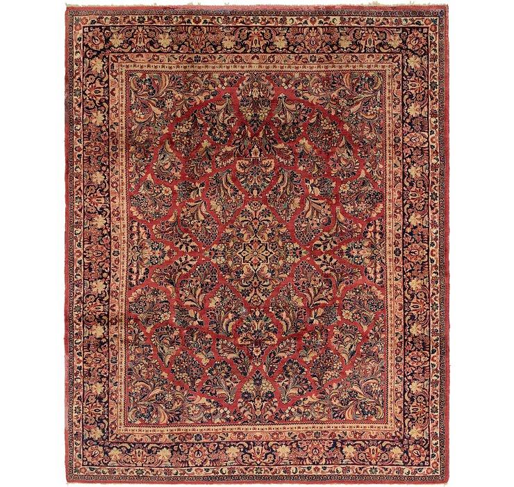 8' x 10' 2 Sarough Persian Rug
