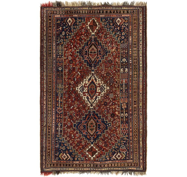 5' 6 x 8' 7 Shiraz Persian Rug