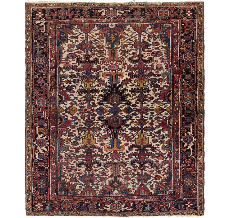 6' 9 x 8' 5 Heriz Persian Rug