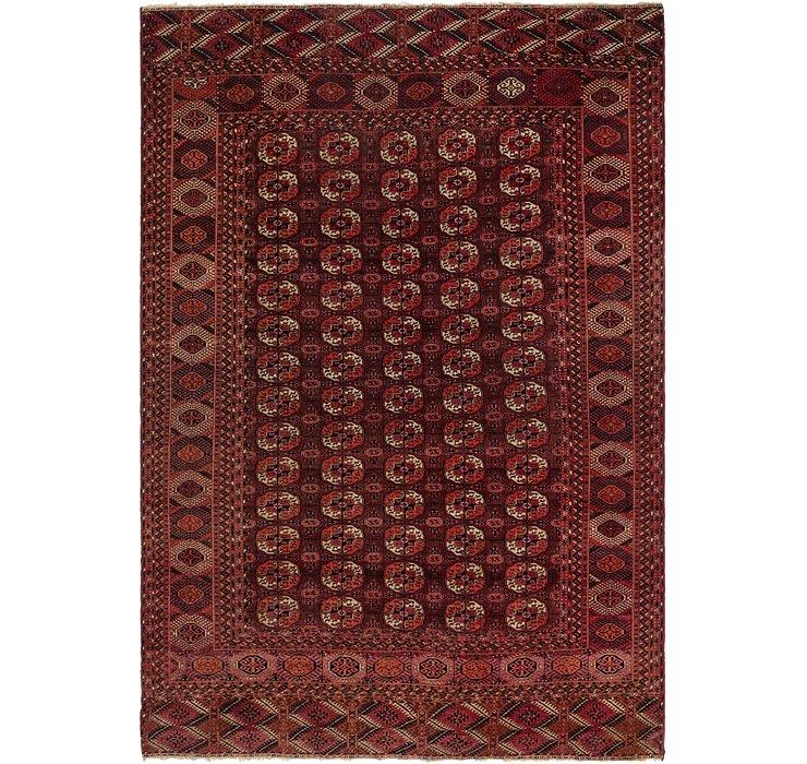 7' x 10' 6 Torkaman Oriental Rug