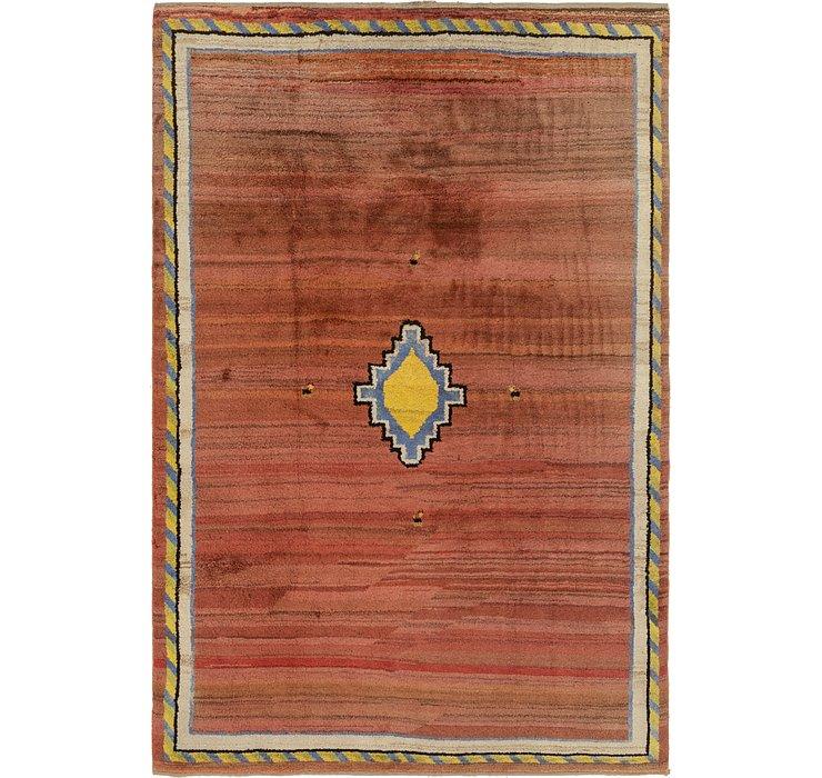 7' x 10' 8 Shiraz-Gabbeh Persian Rug