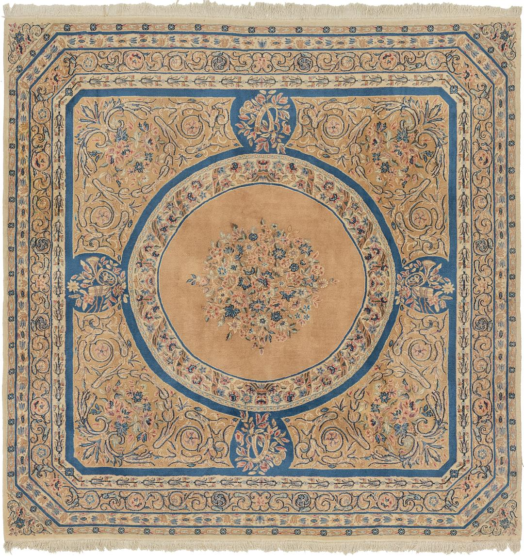 Peach 10 X 10 Kerman Persian Square Rug Persian Rugs
