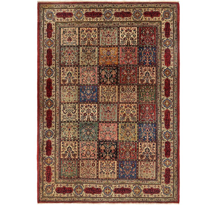 7' 2 x 10' 4 Sarough Persian Rug