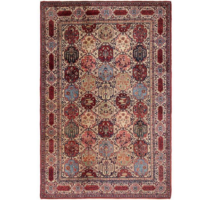 7' x 10' 4 Sarough Persian Rug
