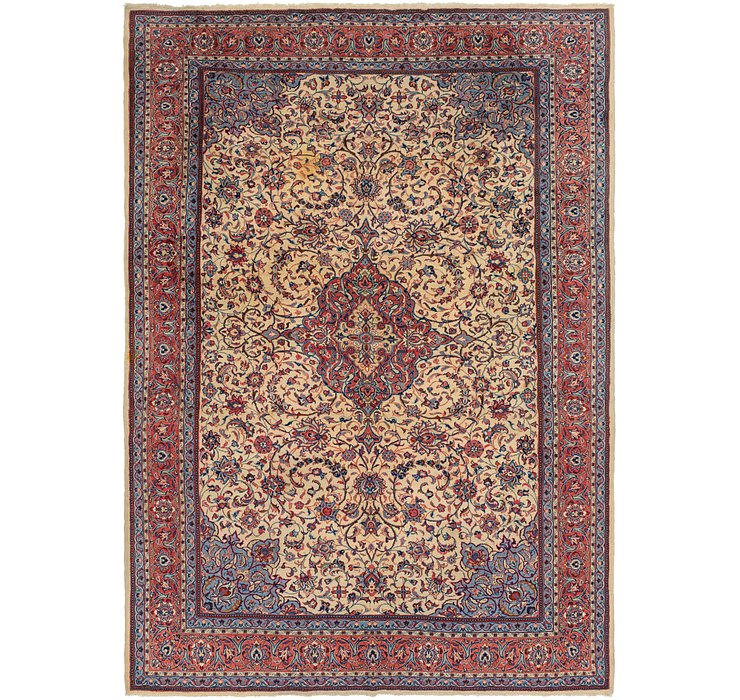 8' x 11' 8 Sarough Persian Rug