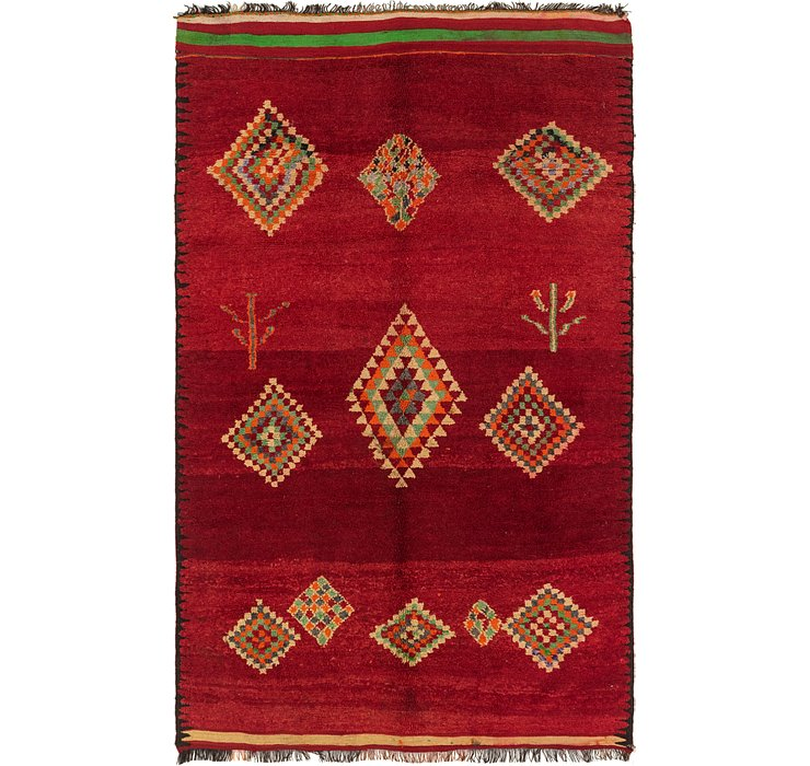 5' 9 x 9' 4 Moroccan Rug