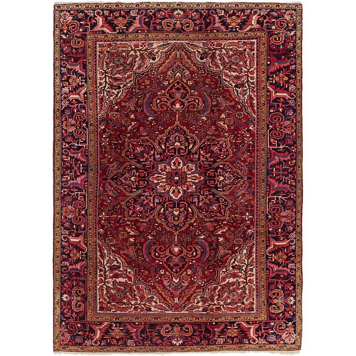 8' x 11' 4 Heriz Persian Rug