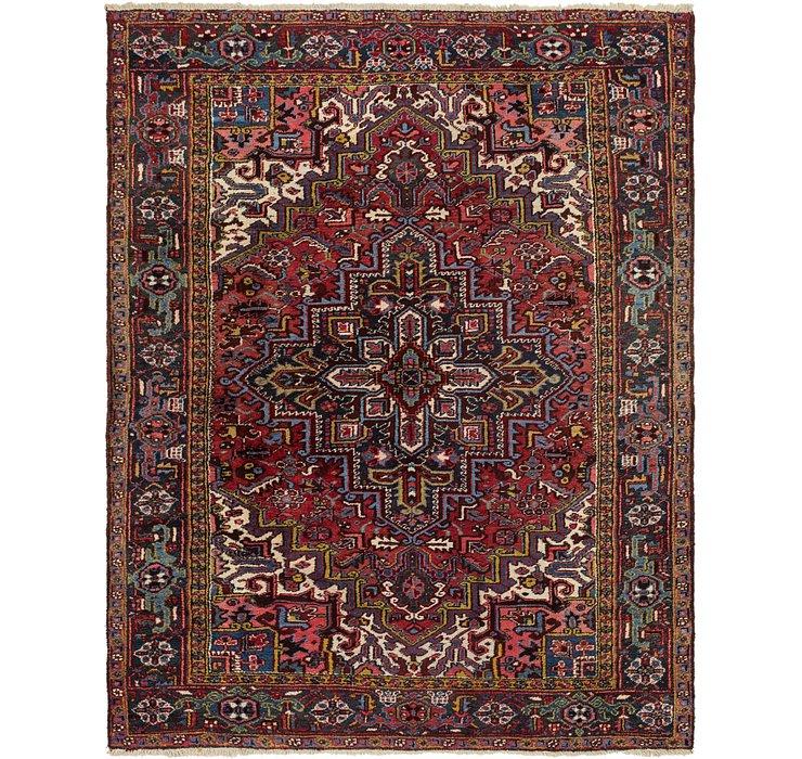 7' x 9' Heriz Persian Rug