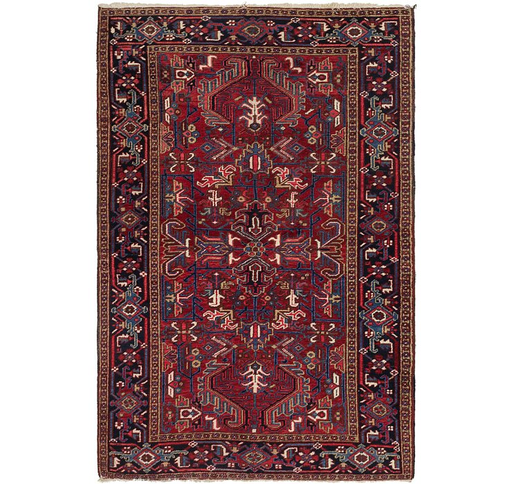 5' 9 x 8' 9 Heriz Persian Rug