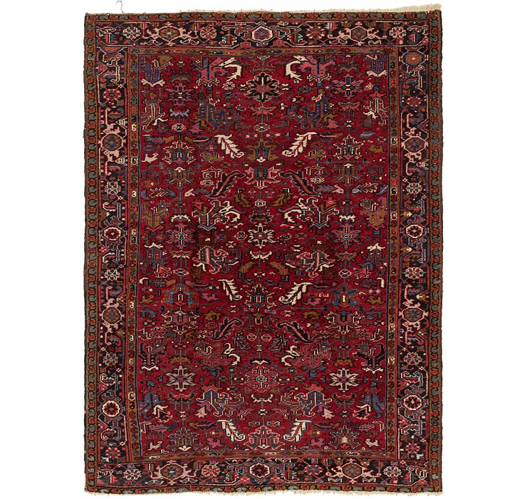 7' 4 x 10' Heriz Persian Rug