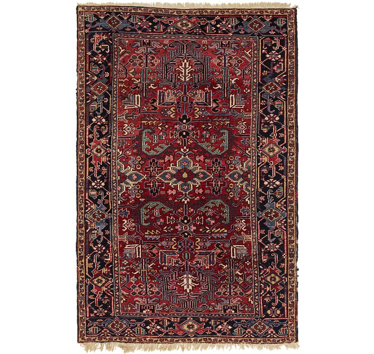 6' 2 x 9' 6 Heriz Persian Rug