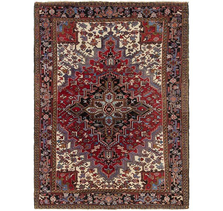 8' x 10' 10 Heriz Persian Rug