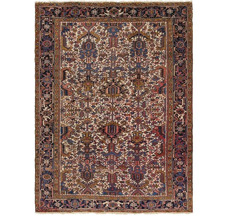 7' 4 x 10' 2 Heriz Persian Rug