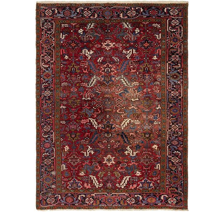 8' x 11' Heriz Persian Rug