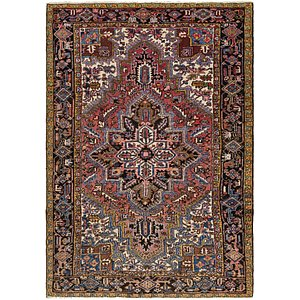 7' 3 x 10' 4 Heriz Persian Rug