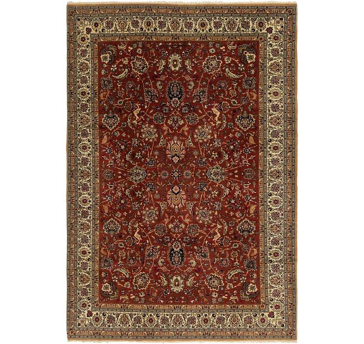 6' 9 x 10' Hereke Oriental Rug