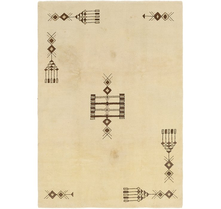 HandKnotted 6' 7 x 9' 7 Moroccan Rug