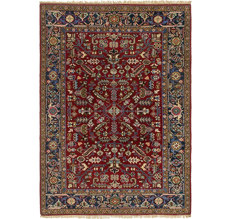 6' 7 x 9' 3 Heriz Persian Rug