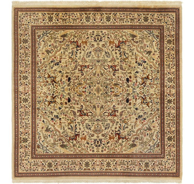 7' 8 x 7' 10 Tabriz Oriental Square ...