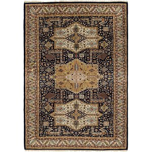 HandKnotted 6' 2 x 9' Jaipur Agra Oriental Rug
