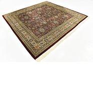 Link to Unique Loom 8' x 8' 4 Tabriz Oriental Square Rug