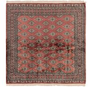 Link to 7' x 7' 3 Bokhara Oriental Square Rug