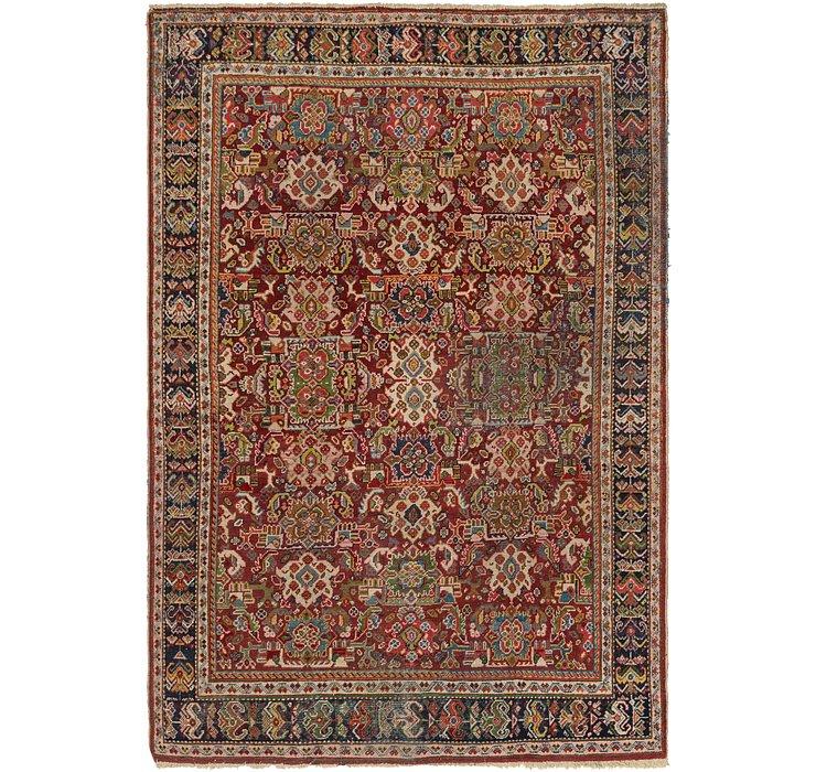 7' x 10' 6 Meshkabad Persian Rug