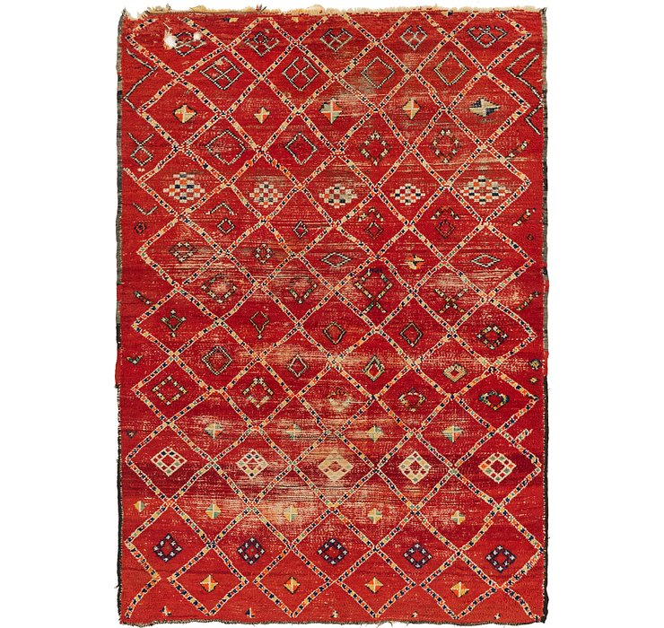HandKnotted 6' 2 x 8' 7 Moroccan Rug