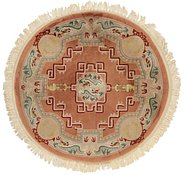 Link to 6' 2 x 6' 5 Carved Pekin Round Rug