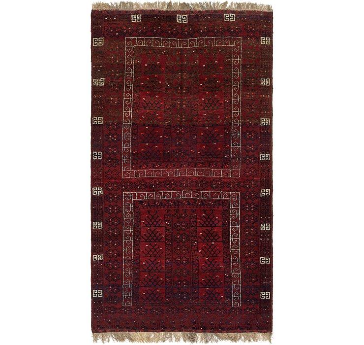 5' 4 x 10' Afghan Akhche Rug