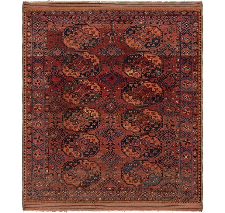 7' 5 x 8' 6 Afghan Akhche Oriental ...