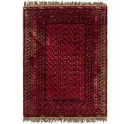 Link to 6' 8 x 9' Afghan Akhche Rug