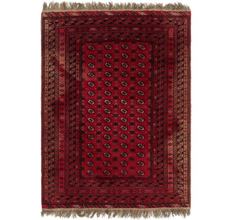 6' 8 x 9' Afghan Akhche Rug