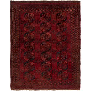 Link to 9' 5 x 12' 3 Afghan Akhche Rug item page