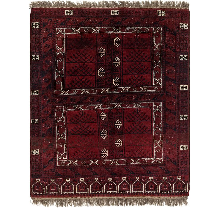 5' 7 x 7' Afghan Akhche Rug