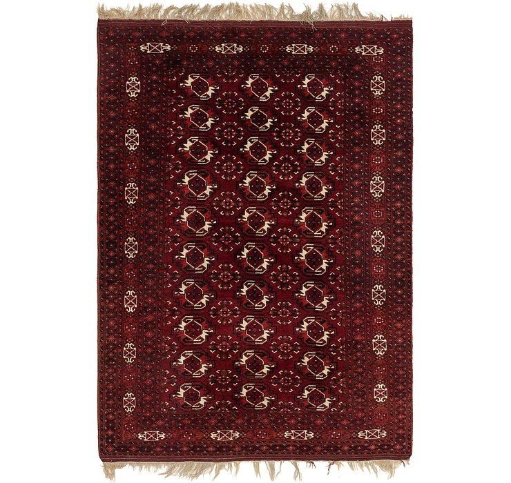 213cm x 305cm Afghan Akhche Oriental ...