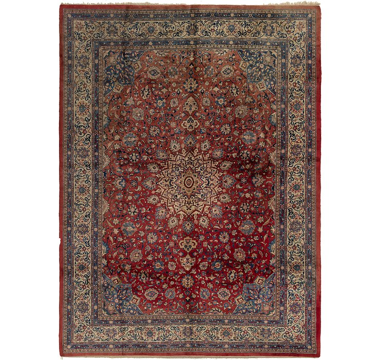 10' 6 x 14' 3 Sarough Persian Rug