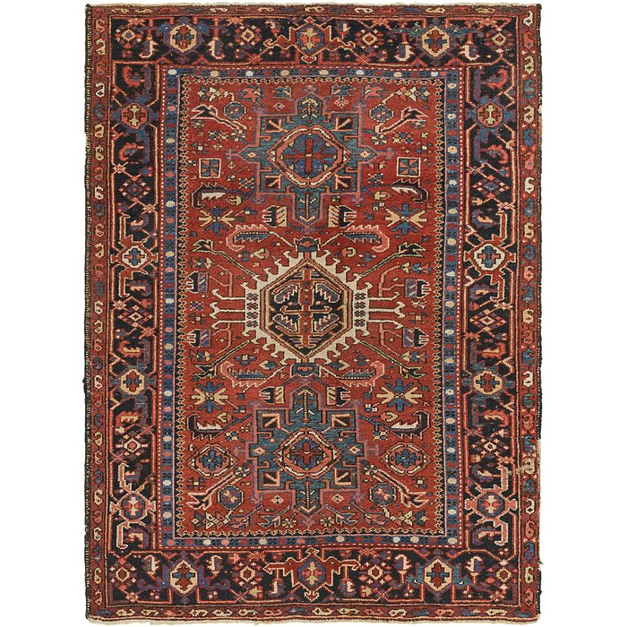 4' 7 x 6' 2 Gharajeh Persian Rug