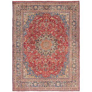 HandKnotted 9' 4 x 12' 5 Mashad Persian Rug