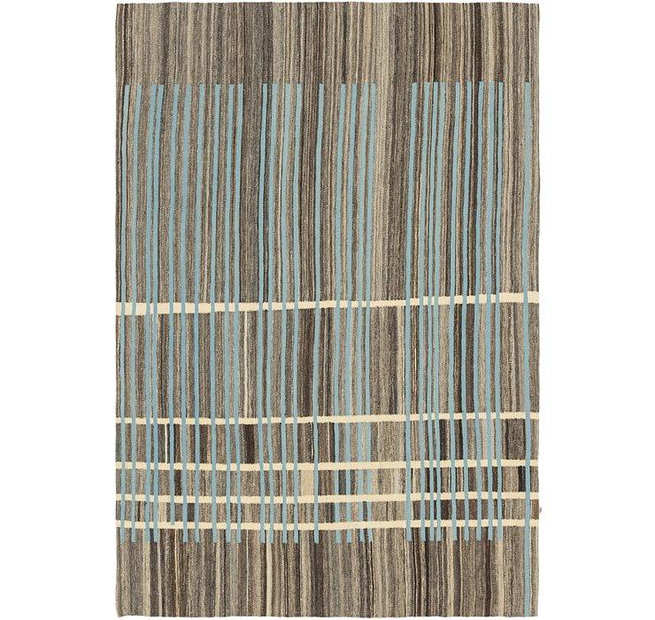 5' 7 x 8' Kilim Modern Rug