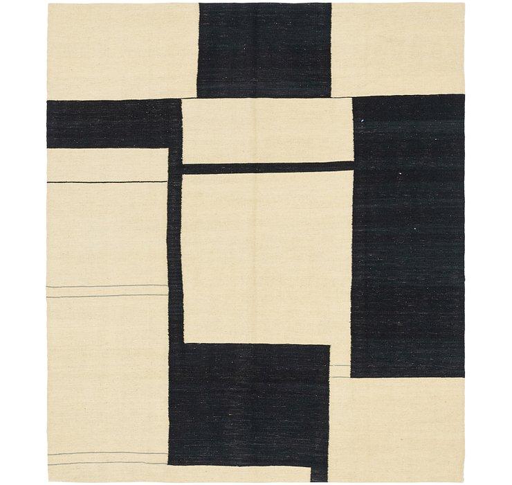 6' x 7' Kilim Modern Square Rug