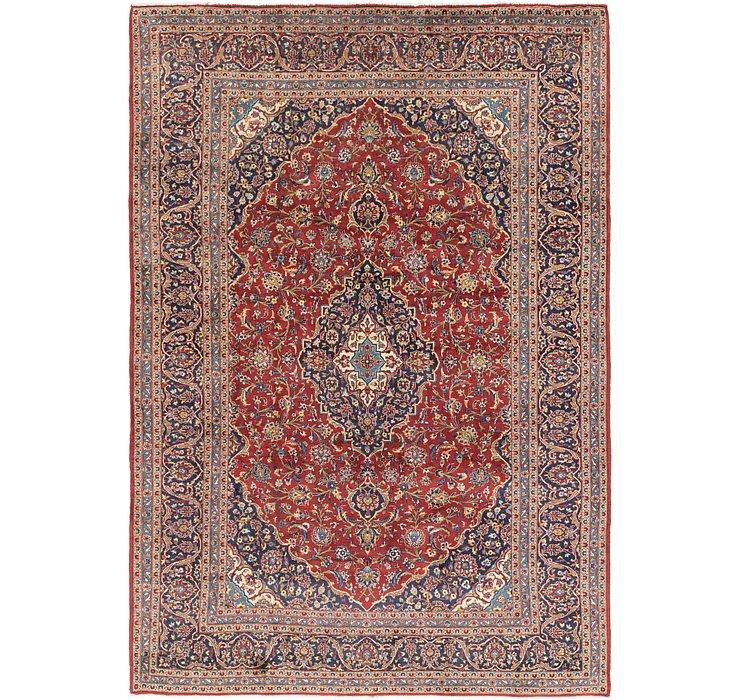 9' 3 x 13' 7 Kashan Persian Rug