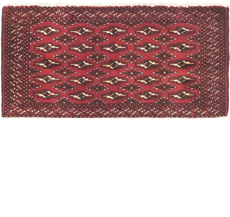 53cm x 105cm Torkaman Persian Rug