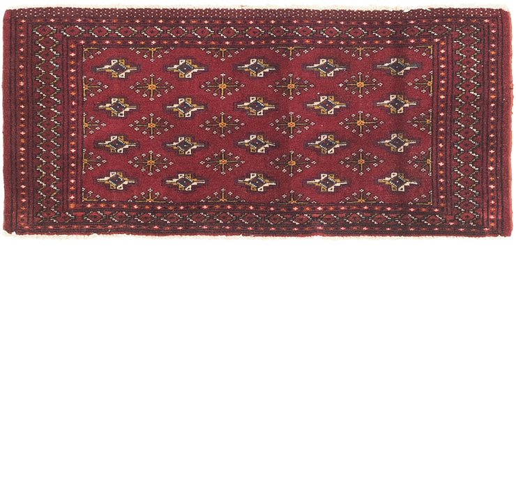2' x 4' 5 Torkaman Persian Runner...