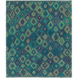 Link to 7' x 8' Kilim Modern Square Rug item page